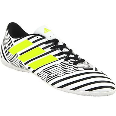 Adidas Nemziz 17 4 In Indoor Soccer Shoes Mens White Black Neon Yellow Soccer Shoes Indoor Soccer Cleats Indoor Soccer