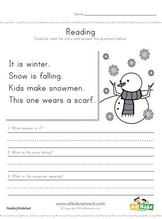 Winter Worksheets For Second Grade Winter Reading Prehension Worksheet In 2020 Comprehension Worksheets Reading Comprehension Worksheets Reading Worksheets Winter worksheets for second grade