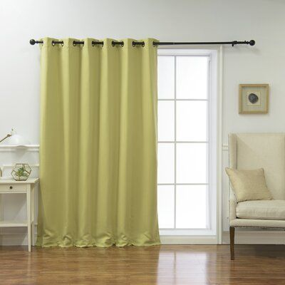 Alcott Hill Scarsdale Extra Solid Blackout Thermal Grommet Single
