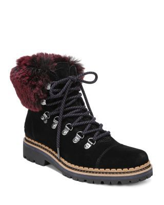 1aa51a3fcb7 Sam Edelman Women's Bowen Fur & Suede Hiking Boots | Bloomingdale's ...