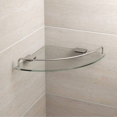 Orchard Options Round Corner Glass Shelf Victoriaplum Com Glass Shelves Glass Shelves In Bathroom Glass Shelves Kitchen