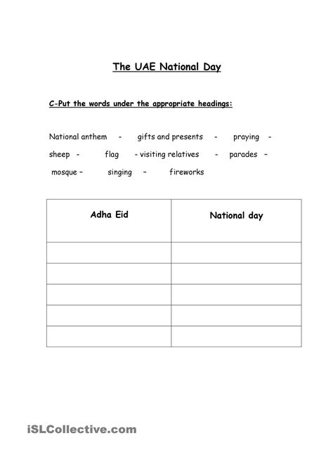 UAE National Day Education Pinterest Uae, Comprehension - free profit and loss worksheet