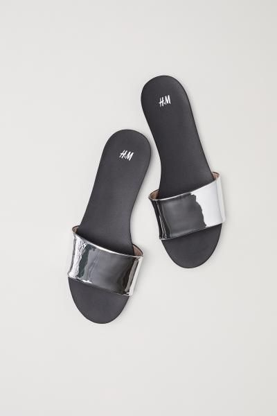 Slides - White/gold-colored - Ladies