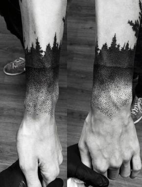 70 Pine Tree Tattoo Ideas For Men Wood In The Wilderness With