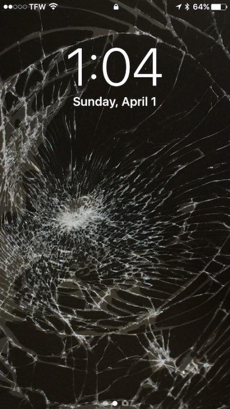 The Broken Screen Glass Wallpaper Prank For Iphone And Ipad Broken Screen Wallpaper Broken Glass Wallpaper Broken Screen