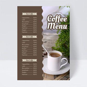 تصميم قائمة مشروبات القهوة Drink Menu Design Coffee Drinks Menu Design