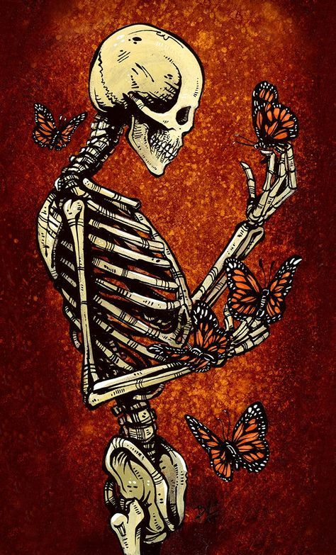 Metamorphosis in 2019     Tattoos     Skeleton art, Skull