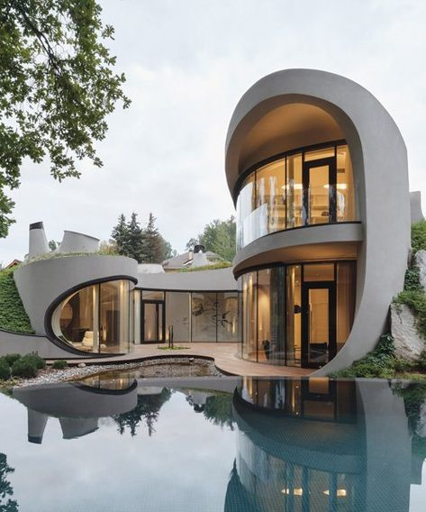 Architecture House Landscape The Best Dream House Exterior Ideas - House Topics Model Architecture, Architecture Design Concept, Organic Architecture, Futuristic Architecture, Beautiful Architecture, Post Modern Architecture, Russian Architecture, Minimalist Architecture, Victorian Architecture