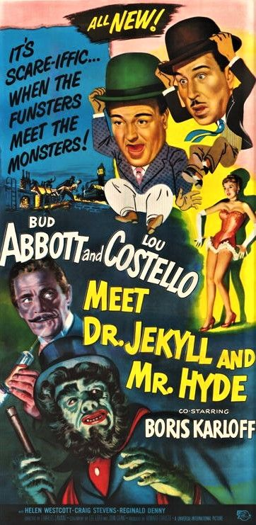 Abbott And Costello Meet The Invisible Man Abbott And Costello Meet Dr Jekyll And Mr Hyde 1953 Horror Movie Posters Old Movie Posters Movie Posters