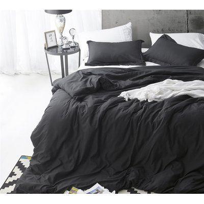 Black Duvet Cover Set Solid Bliss Sateen Bed Linens Luxury Black Duvet Cover Black Duvet