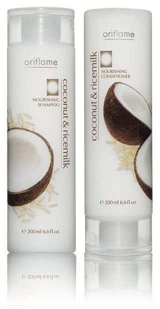 Oriflame Coconut Rice Milk Nourishing Shampoo And Conditioner