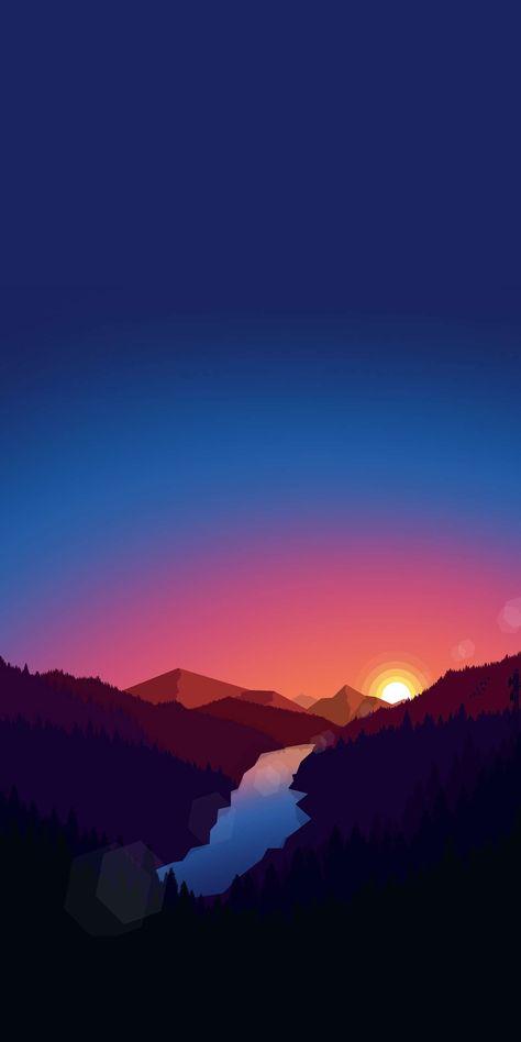Sunrise View Minimal Nature iPhone Wallpaper #iphonewallpaper #iphone #wallpaper #android #androidwallpaper #iphonebackground #funny