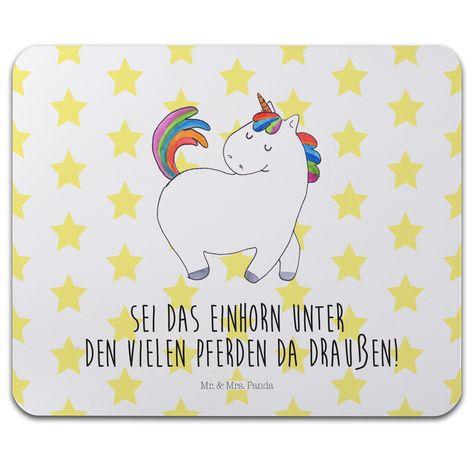 Mauspad Druck Einhorn stolzierend aus Naturkautschuk  ##MATERIALS_COLORNAME## - Das Original von Mr. & Mrs. Panda.  Ein wunderschönes Mouse Pad der Marke Mr. & Mrs. Panda. Alle Motive werden liebevoll gestaltet und in unserer Manufaktur in Norddeutschland per Hand auf die Mouse Pads aufgebracht.    Über unser Motiv Einhorn stolzierend  Das wunderbar niedliche stolzierende Einhorn von Mr. & Mrs. Panda.    Verwendete Materialien  ##MATERIALS_DESCRIPTION##    Über Mr. & Mrs. Panda  Mr. & Mrs…