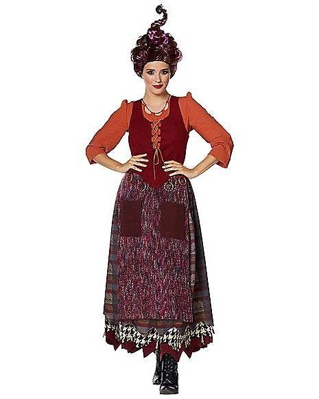 NEW Disney Hocus Pocus Mary Sanderson Halloween Adult Costume Size Medium
