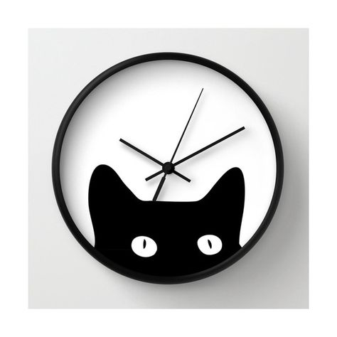 GORGEOUS GLASS SILHOUETTE BLACK CATS WALL CLOCK NEW /& BOXED