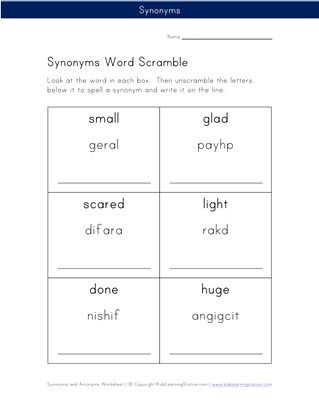 13++ Synonyms and antonyms worksheet pdf For Free
