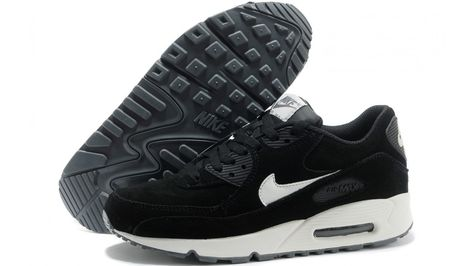 Nike Air Max 90 Essential Black Sail White Suede (537384-002)  47f611089c6e