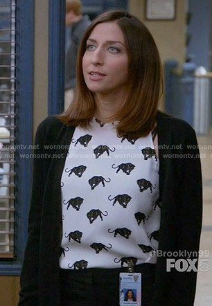 Gina's panther print top on Brooklyn Nine Nine in 2020