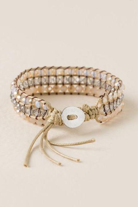 Caito Crystals Strand Wrap Bracelet