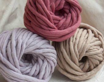 Very Thick Yarn Super Chunky Yarn Handspun Merino Merino Wool