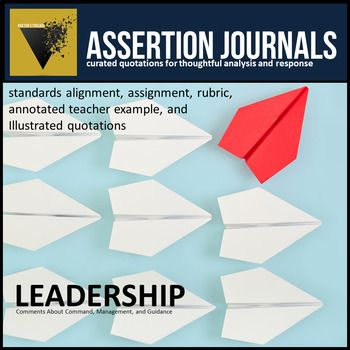 Leadership Assertion Journal Prompts For Analysis Argument Ap