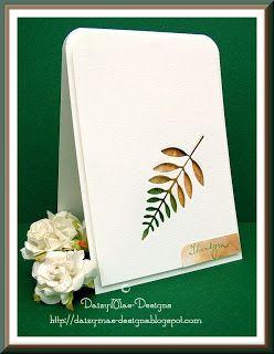 Daizy-Mae's-Crafty blog: Dark Green and Rust card