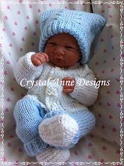 BABY KNITTED PRAM SET 4 PIECE PREMATURE PREM NEWBORN CARDIGAN PANTS HAT BOOTIES