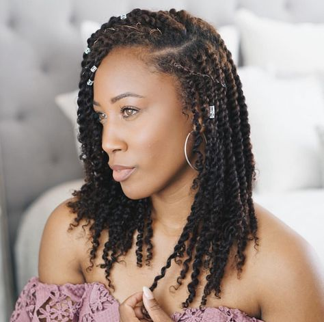 Mini Twists Pretty Protective Style Senegalese Twist Hairstyles Twist Hairstyles Natural Hair Styles