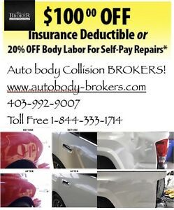 Auto Body Repairs 20 Off 100 Off Deductible With Images