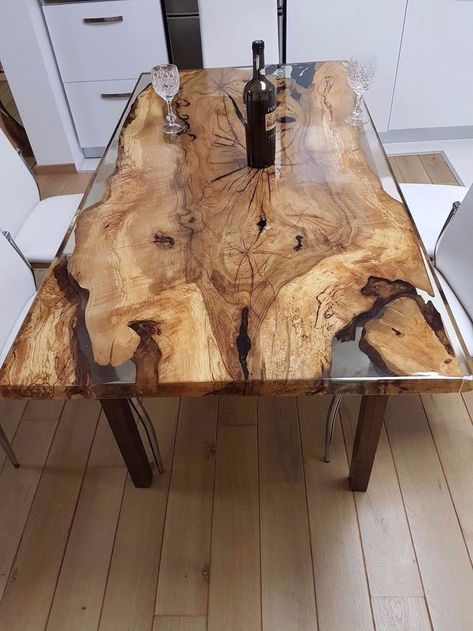 Unique 6 Person Epoxy Resin Table Holzharztisch Diy Holz Harz