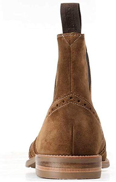 3e320b00836 Loake Hoskins Mens Brogue Chelsea Boots 8 Tan: Amazon.co.uk: Shoes ...