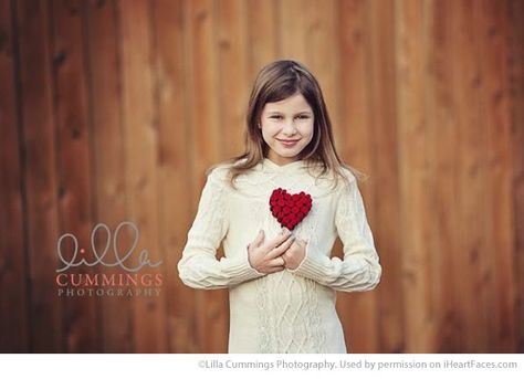 Valentines Day Photography Inspiration - Child Portrait by Lilla Cummings Photography via iHeartFaces.com