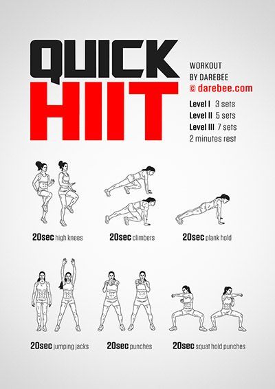 QUICK HIIT | DAREBEE Workouts | Full Body Workout | Body Weight ...