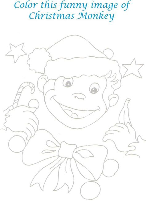 Sock Monkey Coloring Pages Printable Monkey Printable Page