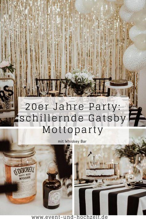 20er Jahre Party: schillernde Gatsby Mottoparty - Event und Hochzeit