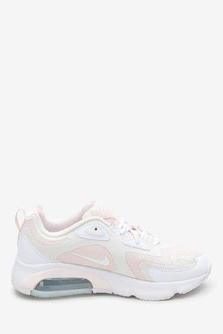 Nike PinkWhite Air Max 200 Trainers | Air max, Air max