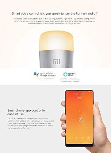 Xiaomi Bombilla De Color Mi Led Wifi No Requiere Hub Compatible Con Google Home Alexa Y Apple Homekit E27 10 W 800 L En 2020 Bombillas De Colores Bombillas Led