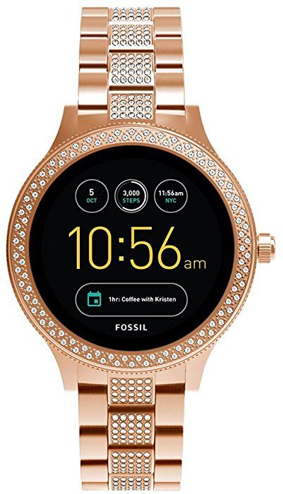 Amazon Com Fossil Gen 3 Smartwatch Q Venture Rose Gold Tone Stainless Steel Ftw6008 Watches Fossil Smart Watch Watch Bands Smart Watch