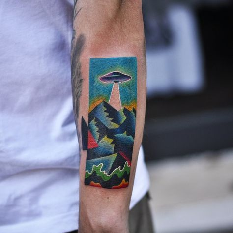 Mann tattoo oldschool unterarm Vorlagen Unterarm