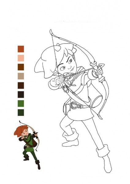Marry Disney Robin Hood Coloring Pages For Kids Best Coloring