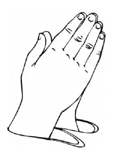 Childrens Praying Hands Coloring Page In 2020 Praying Hands Clipart Children Praying Praying Hands