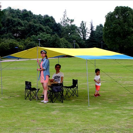 Sun Shelter Tent Waterproof Awning Hiking Portable Canopy Outdoor Gazebo Camping Tent 3 2 3m Big Size Family Coating Tarp T Tent Awning Tent Waterproof Awnings