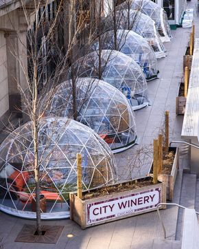 Wine Wednesday, anybody? 🍷 It'd be the perfect day to snag a spot at one of the domes.