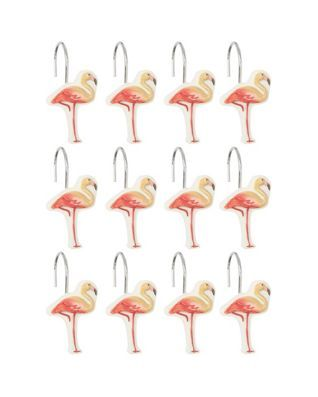Saturday Knight 12 Pc Coral Gables Shower Curtain Hooks Shower