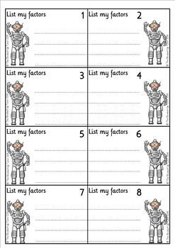 Factors Of Numbers 1 100 Find The Factors At The Factor Factory Prime Numbers Finding Factors Numbers 1 100