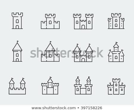 Vector Medieval Castles Icon Set In Thin Line Style Cartographie Donjons Et Dragons Modele Cv Word