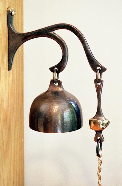 Antique 1900/'S Vintage Metal Cow Bell Copper Brass Wood Clapper Bells Single Pcs