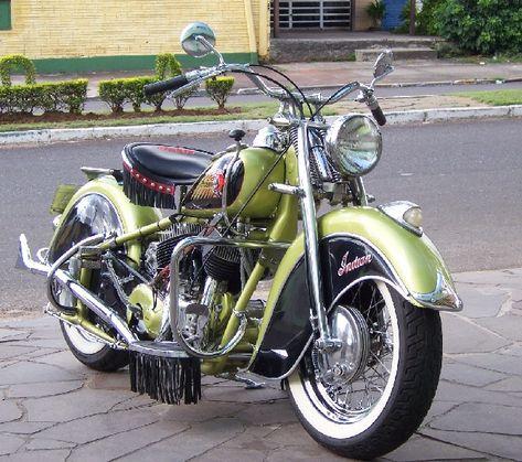 Fabricante:..Indian (EUA)  Modelo:Chief   Ano de fabricação:1946   Período:1940 ~ 1953  Cilindrada:1207cc