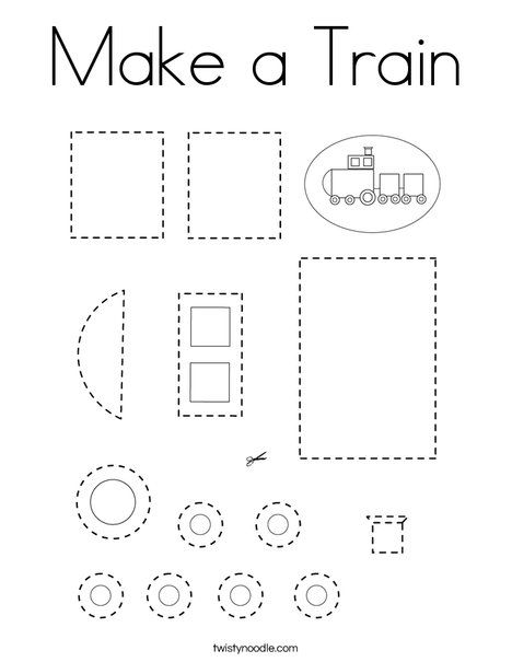Make A Train Coloring Page Twisty Noodle Train Coloring Pages Pre Writing Activities Trains Preschool