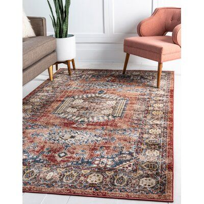 Three Posts Cedric Terracotta Oriental Red Beige Blue Area Rug In 2020 Area Rugs Area Rugs For Sale Rugs In Living Room